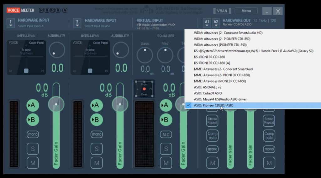 Configurar Voicemeeter ASIO