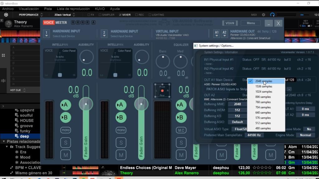 Buffer de audio en Voicemeeter