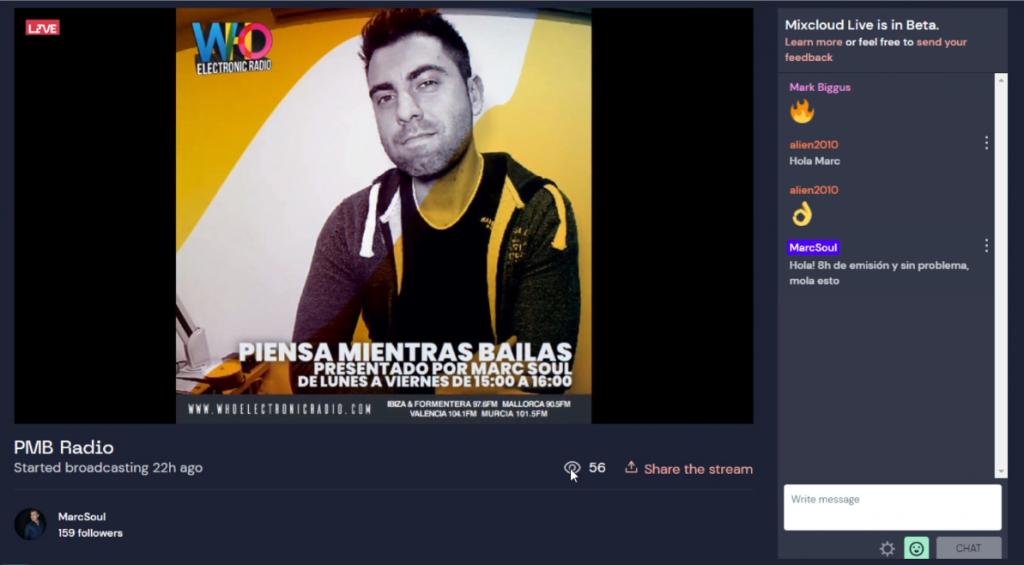 Mixcloud Live mejor plataforma para DJs