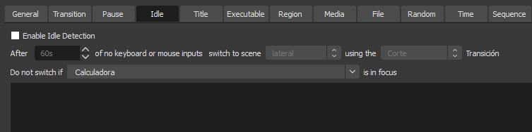 Advanced Scene Switcher idle detection
