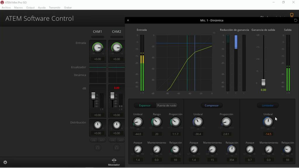 Procesador audio ATEM Mini